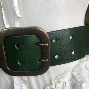 Accessories - Groovy Green Vintage Large Belt Leather